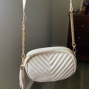 Pink Quilted Crossbody with Gold chain